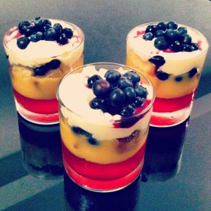 Frugal Feast 2 - Blueberry White Chocolate Trifle