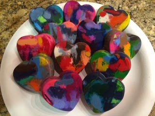 DIY Valentine's Gift - Heart Shaped Crayons