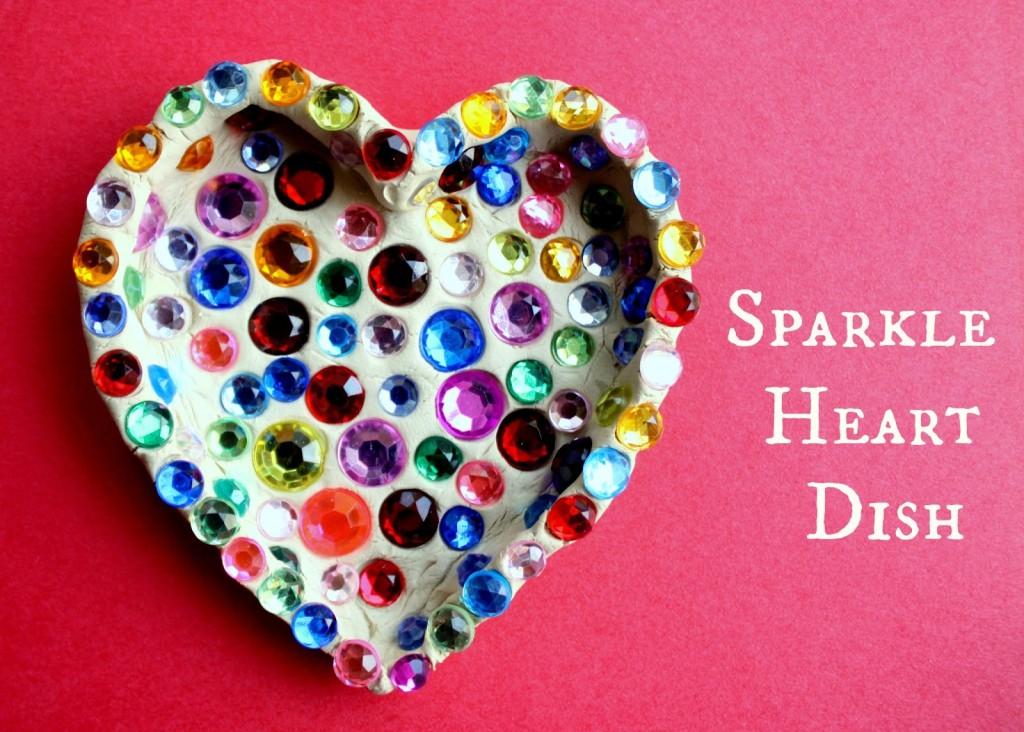DIY Valentine's Gift - Sparkle Heart Dish
