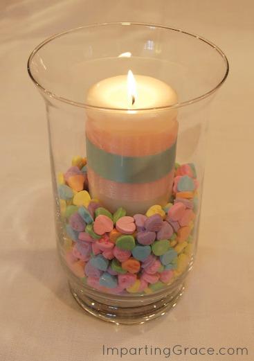 DIY Valentine's Gift - Valentine Candle