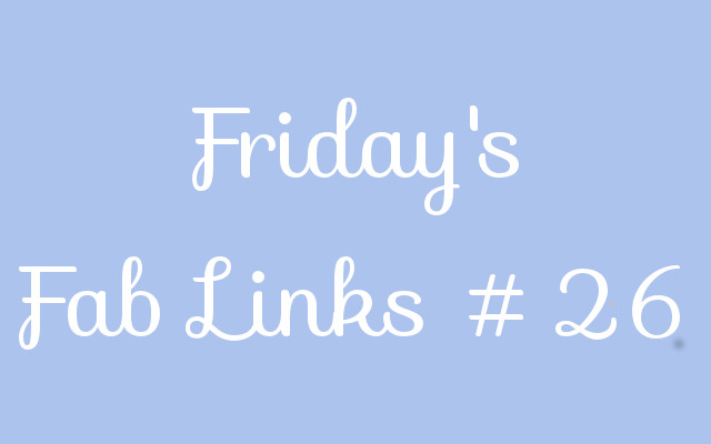 Personal Finance Blog Roundup – Friday's Fab Links #26