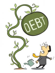 Minimum payment debt struggle