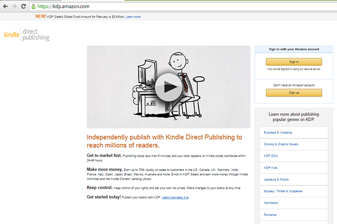 Kindle self publishing - How to self publish a book on KDP