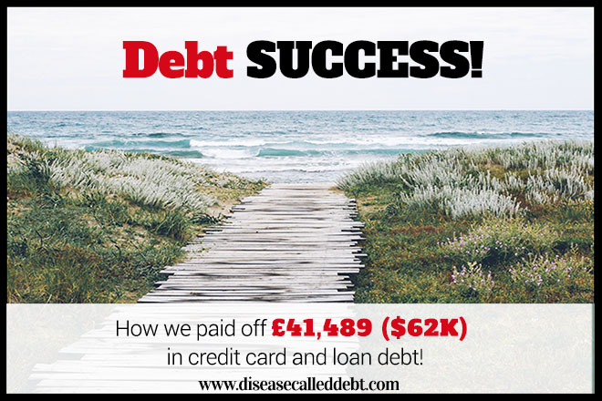 How We Paid Off Our Debt of £41,489 ($62K)