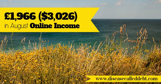Online income report for August 2015 - £1966 / $3026