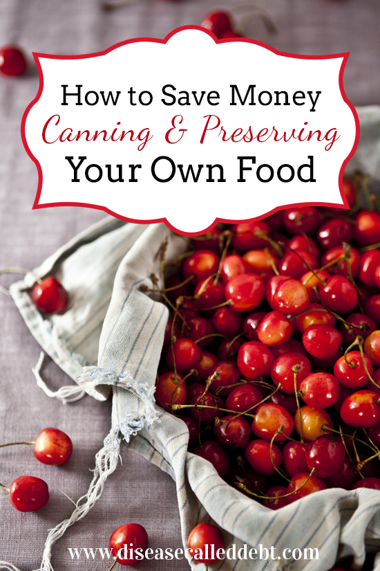 How to save money by canning and preserving food - Disease Called Debt