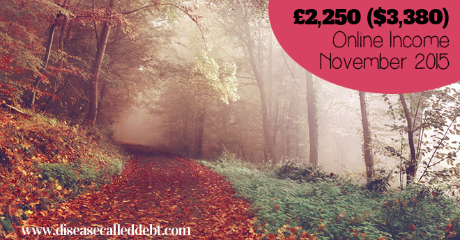 £2,250 ($3,380) in November Online Income & Life Update