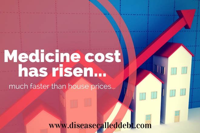 Medicine cost has risen much faster than house prices